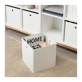 Коробка IKEA KUGGIS 30x30x30 см біла 603.949.47