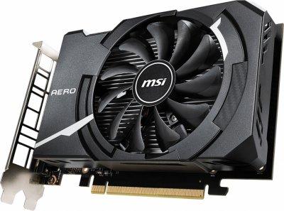 MSI PCI-Ex GeForce GTX 1650 Aero ITX 4G 4GB GDDR5 (128bit) (1665/8000) (DisplayPort, HDMI, DVI-D) (GTX 1650 AERO ITX 4G)