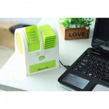 Настільний портативний вентилятор-кондиціонер USB HB-168 Зелений (Т43-1)