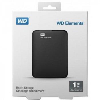 Зовнішній жорсткий диск 2.5 1TB WD (WDBUZG0010BBK-WESN)