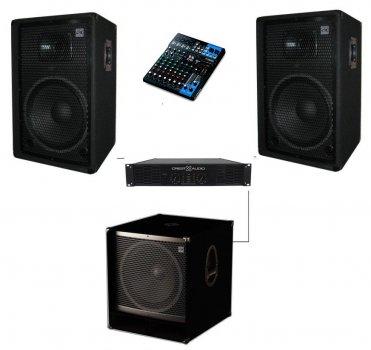 Комплект звукового обладнання Sound Division DJ15CY10Sub18 1600Вт