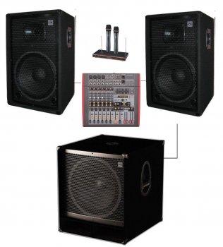 "Комплект колонок Sound Division DJ15A-Sub18+ 1700Вт з сабвуфером 18"""