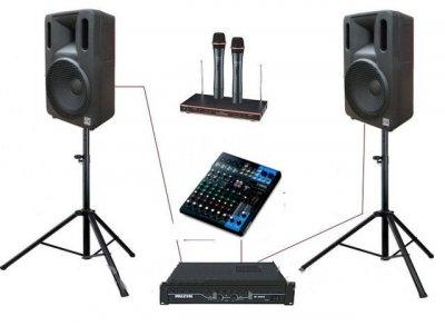 """Комплект звукового оборудования Sound Division МС300KAR82 2х300Вт 12"""" для караоке"""