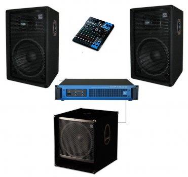 Комплекту активної акустики Sound Division DJ15-102Sub15 1000Вт