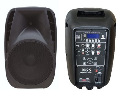 "Портативна акустична система NGS PMQ08AH-BP-BT 8"" 100W з мікрофоном"