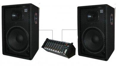 """Комплект звукового обладнання Sound Division DJ-15SA244 700Вт, 15"""""""
