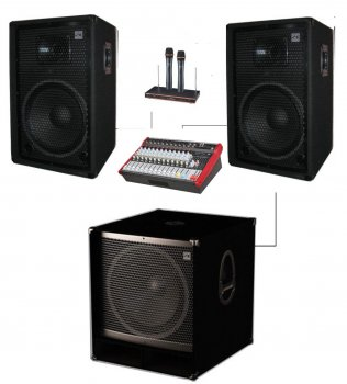 "Комплект колонок Sound Division KAR7 DJ15AS18+ 2100Вт з сабвуфером 18"""