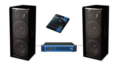 """Комплект звуку Sound Division DJ215-PY10XY 2000Вт, 2х15"""" пульт з ревером для вокалу"""