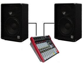 "Комплект звука Sound Division DJ12/2 2х200Вт 12"""
