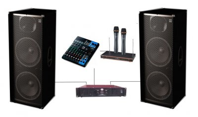 Комплект звукове обладнання Sound Division DJ215KAR82 2х1000Вт