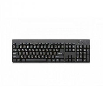 Клавиатура проводная Real-El Standard 502 USB black Б/У