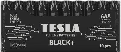 Батарейки Tesla AAA BLACK+ 10 MULTIPACK (LR03 / SHRINK) 10 шт (8594183396682)
