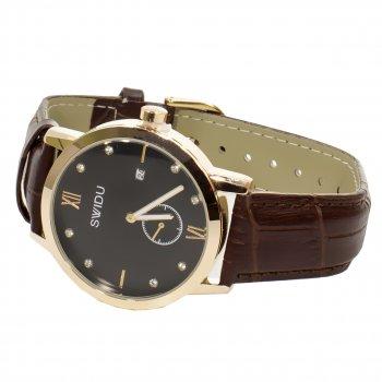 Мужские часы SWIDU SWI-018 Brown + Black