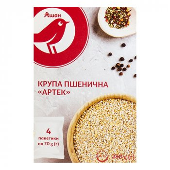Крупа пшеничная Auchan Артек, 4х70 г