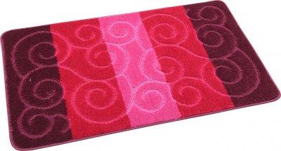 Набір килимків для ванної та туалету на гумовій основі Hali Circles 2 шт 60х100 і 60х50 см Рожевий (6099)