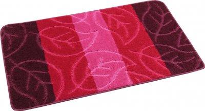 Набір килимків для ванної та туалету на гумовій основі Hali Leaf 60х100 і 60х50см Рожевий (6102)