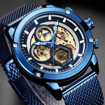 Наручний годинник AlexMosh чоловічі Naviforce NF9167 All Blue (24)