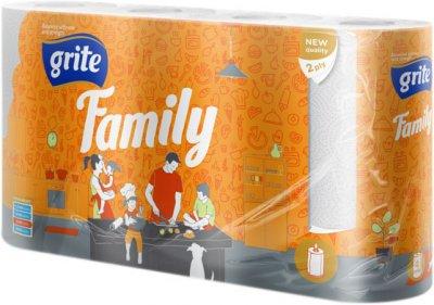 Паперові рушники Grite Family 2 шари 83 відриви 4 рулони (4770023348576)