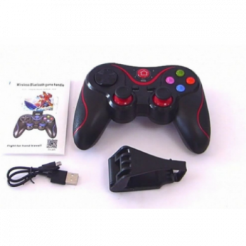 Беспроводной Bluetooth джойстик Gen Game V8 Pro Plus Чёрный с красным