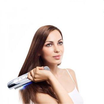 Лазерна щітка-масажер для росту волосся Black Owl біла