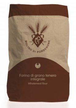 """Італійське борошно з м'яких сортів пшениці Molino di Pordenone """"Інтегральне"""" 25 кг"""