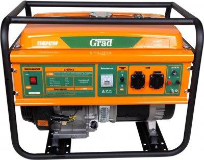 Генератор бензиновый Grad 5.0/5.5кВт 4-х тактный, ручной запуск (5710955)