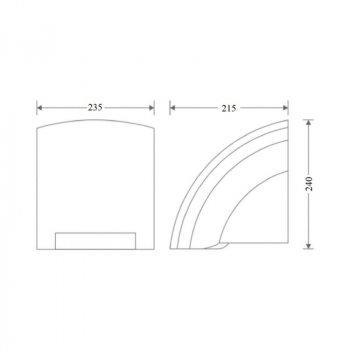 Сушилка для рук Zerix LR550 2000 Вт (ST3790)