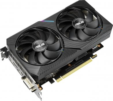 Asus PCI-Ex GeForce GTX 1660 Super Dual Mini OC 6GB GDDR6 (192bit) (1530/14000) (DVI-D, HDMI, DisplayPort) (DUAL-GTX1660S-O6G-MINI)