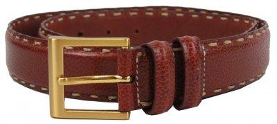 Женский кожаный ремень Ermenegildo Zegna, Италия, коричневый supersumka (TР012SFA760)