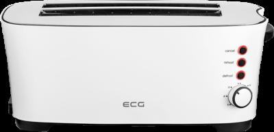 Тостер ECG ST 13730 (1350Вт, 2 довгих слот на 4 тосту, автоцентровка, піддон для крихт)