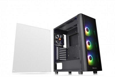 Корпус Thermaltake V250 TG ARGB Tempered Glass Black (CA-1Q5-00M1WN-00) без БЖ
