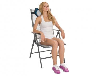 Массажная подушка Us Medica Apple для массажа шеи, спины и ног с подогревом Синий