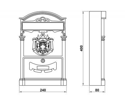 Почтовый ящик AMIG мод.4 (12212)