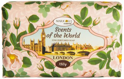 Мыло твердое Marigold Natural парфюмированное Лондон 150 г (4820179550023)