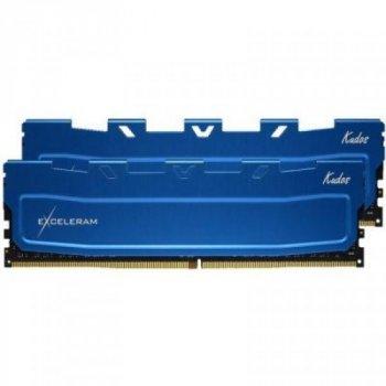 Модуль памяти для компьютера DDR4 16GB 2x8GB 3000 MHz Blue Kudos eXceleram (EKBLUE4163021AD)
