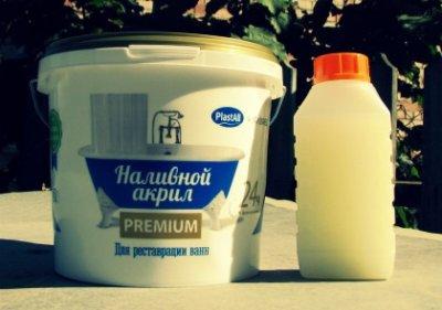 Наливний рідкий акрил PLASTALL Premium для реставрації ванн 1,5