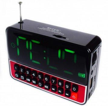 Настільні годинники з радіо і будильником акумуляторні WSTER WS-1513 Black
