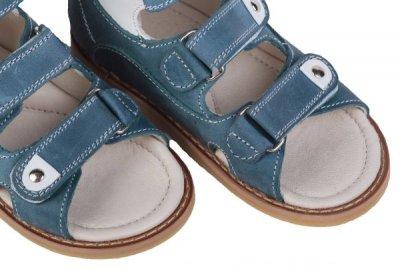Ортопедические сандалии для мальчика с супинатором 005-2 Blue (кожа) ORTOP 005-2 Blue
