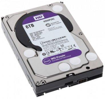 "Жорсткий диск 3.5"" 6Tb Western Digital Purple, SATA3, 64Mb, 5400 rpm (WD60PURZ)"