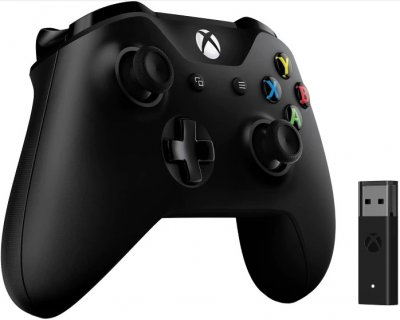 Бездротовий геймпад Microsoft Xbox One Controller + Wireless Adapter for Windows 10 (4N7-00002)