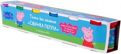 Тесто для лепки Перо Peppa Pig Свинка Пеппа 6 баночек по 50 г (120805) (4820171712900)