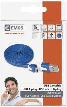 Кабель Emos USB - microUSB 1 м Blue (SM7001B)