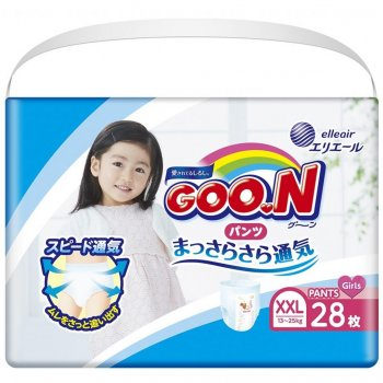 Підгузник GOO.N трусики для дівчаток 13-25 кг XXL 28 шт (853885)