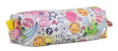 Школьный пенал косметичка для девочки YES Smile 22х7см Разноцветный (5056137127665)