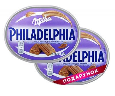 Набор сыров Philadelphia с шоколадом Милка 175 г, 1 + 1