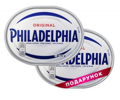 Набор сыров Philadelphia оригинальная 175 г, 1 + 1