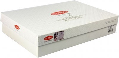 Комплект постільної білизни Hobby Exclusive Sateen Diamond Wafel Beyaz 200х220 (8698499137752)