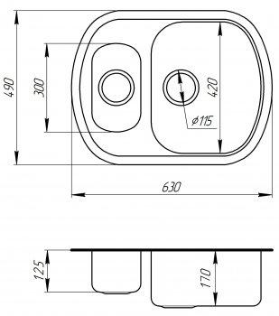 Кухонна мийка ULA 7703 U Satin ULA7703SAT08