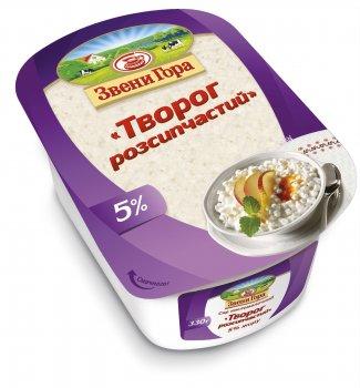 Сир кисломолочний Звени Гора Сир розсипчастий 5% жиру 330г