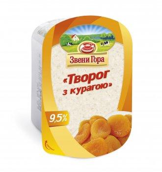 Сир кисломолочний Звени Гора Сир з курагою 9,5% жиру 200г